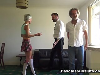 blonde bbw Luna: Rude Brat Taught The Error Of Her Ways - PascalsSubsluts