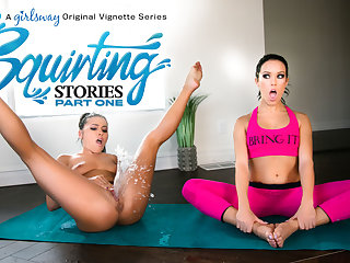fingering lesbian Adriana Chechik & Megan Rain in Squirting Stories: Part One - GirlsWay