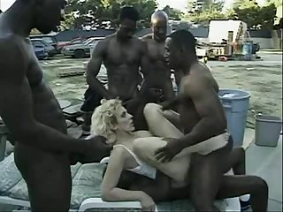 blonde interracial Randi Storm - IR Group-Sex