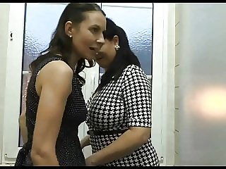 blowjob amateur Two Mature Found a Hole In Public Toilette