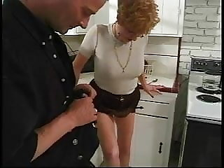 hairy blowjob Young guy fucks short-haired redhead 70 year old with fire crotch
