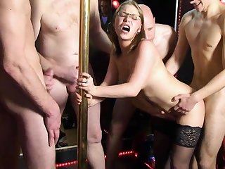 french creampie Gangbang at the club