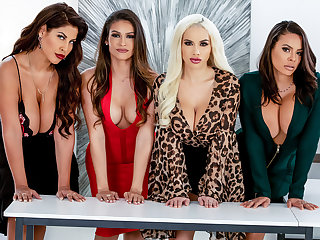 big tits big ass Bridgette B & Katana Kombat & Luna Star in Office 4-Play: Latina Edition - BRAZZERS
