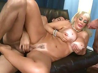 mature big tits Old Slut With Huge Tits Gets Doubleteamed
