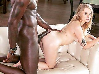 interracial big cock Negro with a big dick put a heifer cancer and nailed her on the sofa...
