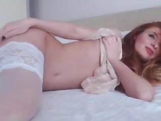 solo female amateur Ginger Kitty XS gets freaky for webcam show - Part 1