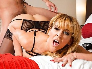 stockings blonde The boy licked Mature whore and her holes fucked passionately...
