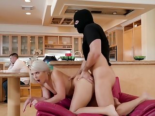 fetish blonde Blonde cheating with her lover in a mask
