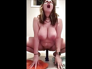 bbw brunette Cumpiiation 17 - BBW Dildo Ride