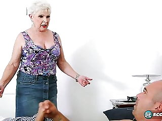 cumshot blowjob Jewel is a granny Milf 67 years old