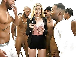 cumshot blowjob Kali Roses Sucks A Black Football Team