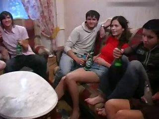 straight russian Russian Students having a party