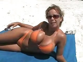 blonde amateur Beach Wife fuck