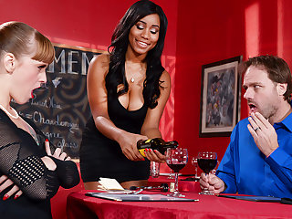 big ass big tits Jenna J Foxx & Johnny Castle in A Tip For The Waitress - Brazzers