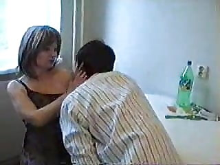 mature amateur Mom has a dirty idea with her Son's friend