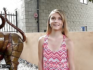 blonde amateur Petite teen Hannah Hays cheats on bf in public