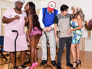 big ass anal Noemie Bilas & Sally D'Angelo & Ricky Spanish in Bingo Bang - BRAZZERS