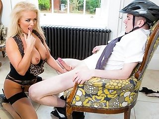 big cock anal Mmka blonde Fucks biker with a huge cock between her legs...