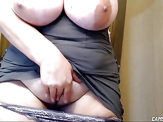 bbw webcam Very Busty BBW Orgasming While Husband At Work