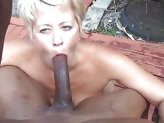 blowjob amateur Never to old to suck That BBC grandma!!!