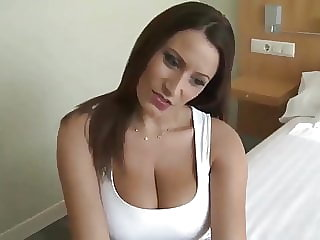 brunette blowjob german MOM with big tits want my cock